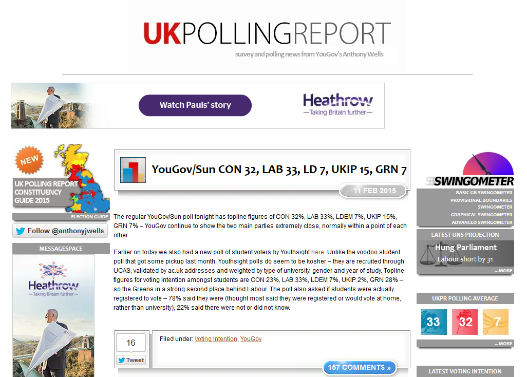 YouthSight in the news - UK Polling Report - Our data featured