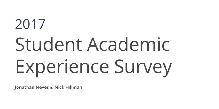 YS In The Press: HEPI/HEA Student Academic Experience Survey 2017